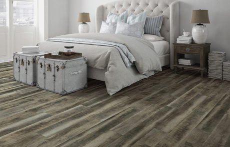 Coretec Vinyl Flooring in a bedroom