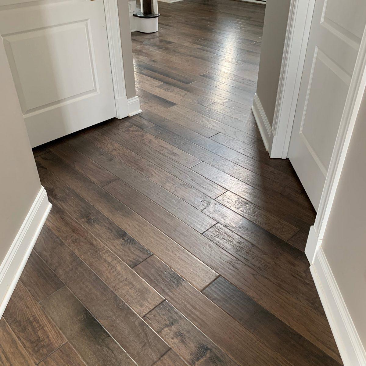 Bernina Hickory installed in the hallway