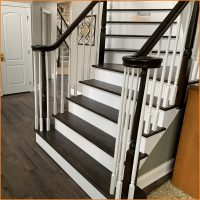 Floors Direct NJ stair refinishing after.