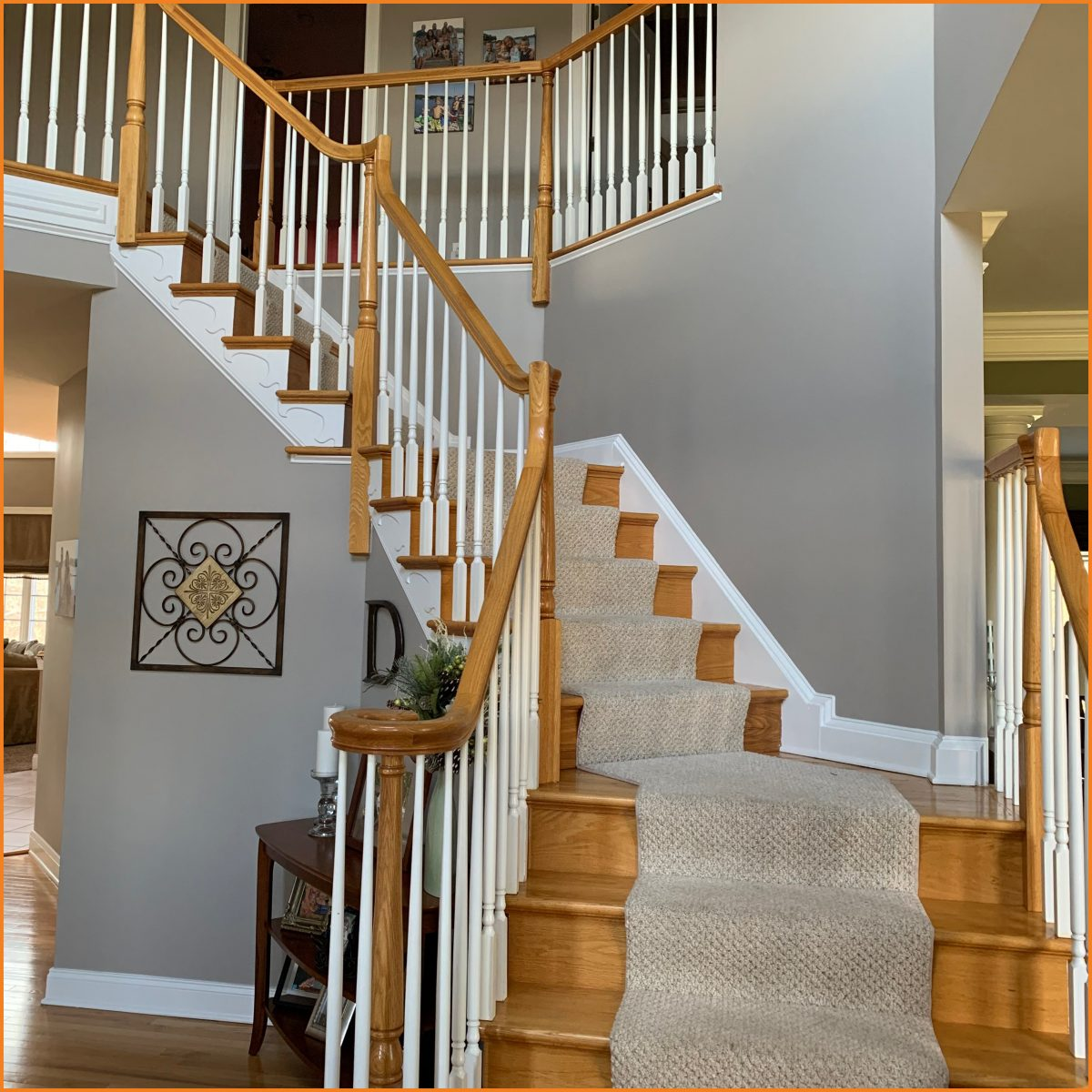 staircase before refinishing - Alexandria, NJ