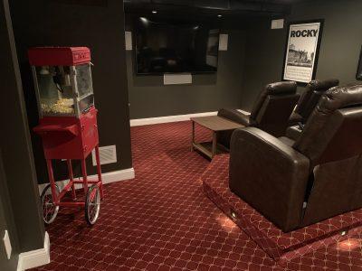 Theater Room Carpet-Mendham-NJ