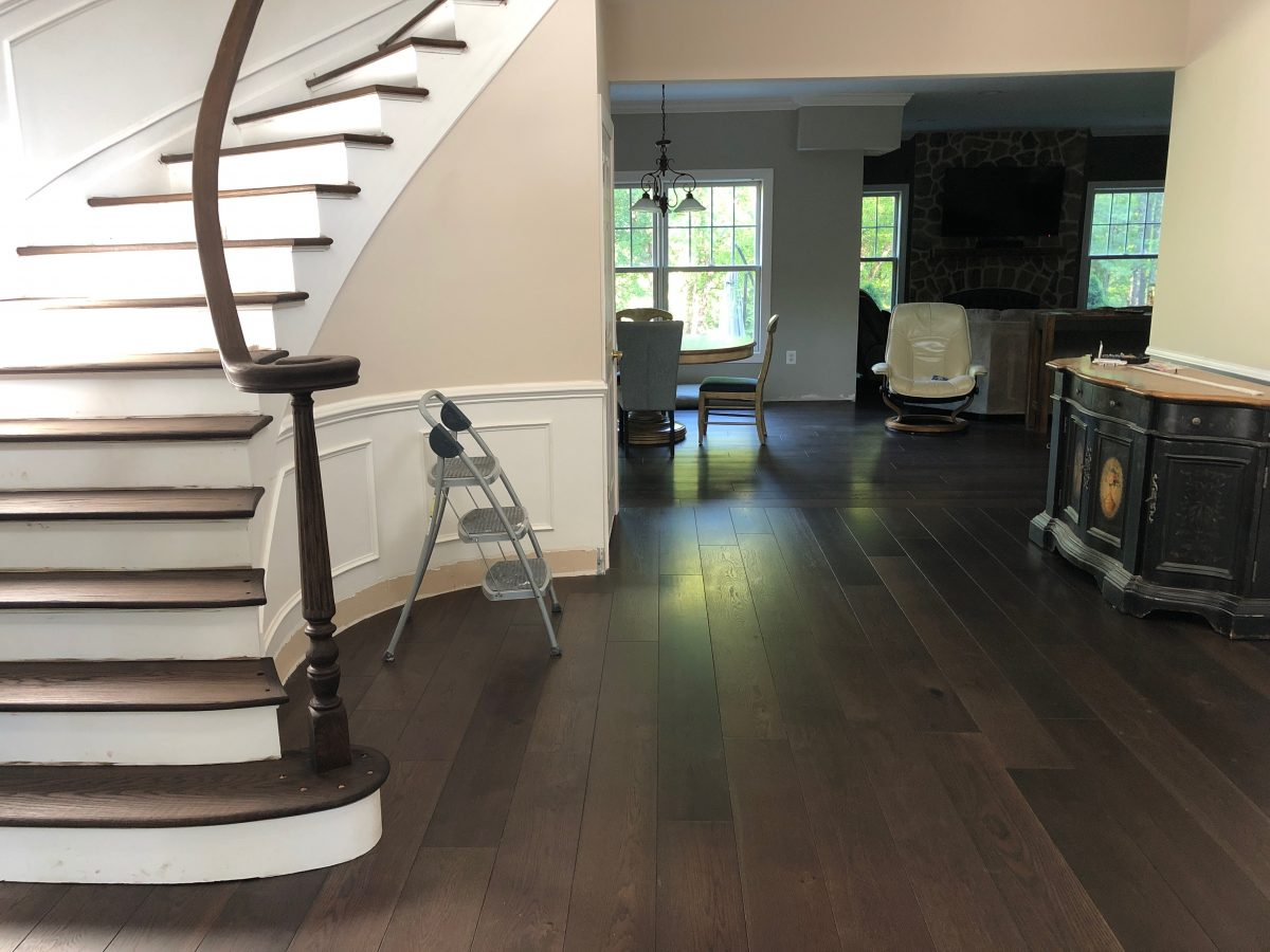wood stair refinishing mendham nj
