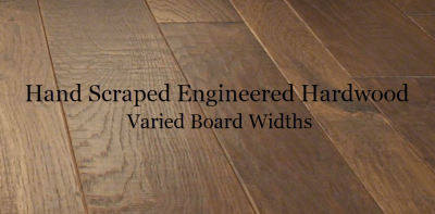hand-scraped enigineered hardwood varied board widths