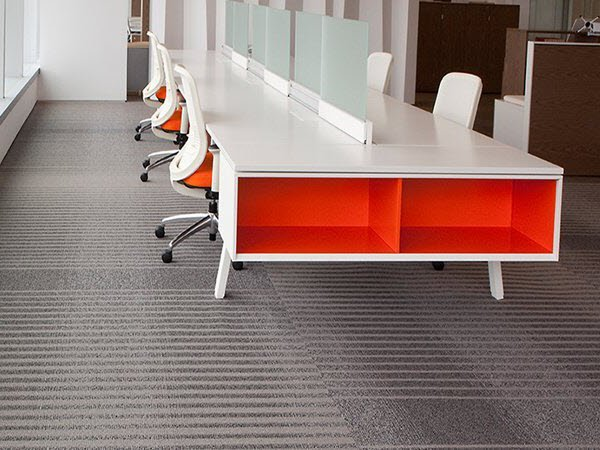 commercial carpet tile scene