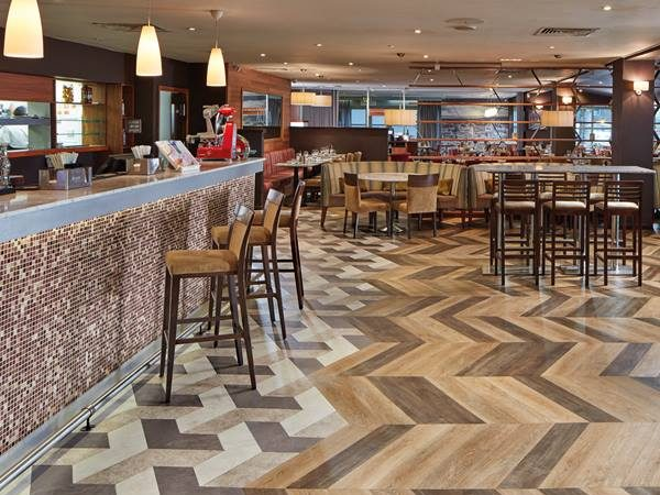 Commercial Flooring in Restaurant