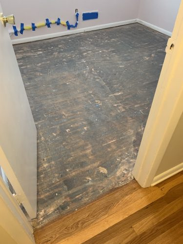 Hardwood Floor Refinishing - Before