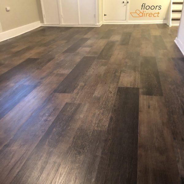 Karndean vinyl plank flooring in basement Westfield NJj