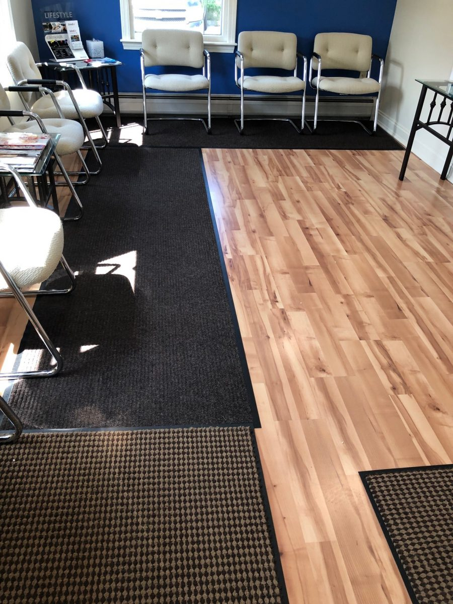 commercial flooring contractor vinyl install