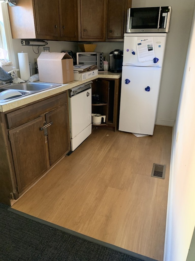 Kitchennette with commercial vinyl