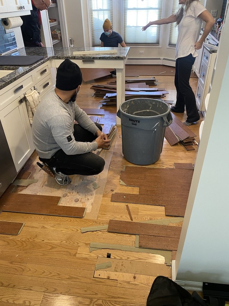 Engineered hardwood floor installation Basking ridge