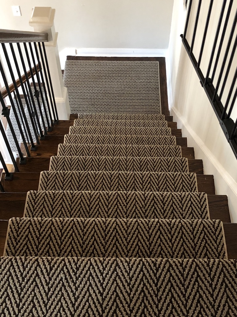 Custom Tuftex Stair Runner Install Caldwell NJ by Floors Direct