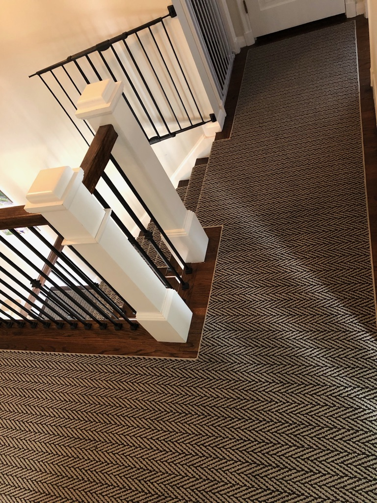 custom Tuftex Carpet hallway runner by Floors Direct NJ