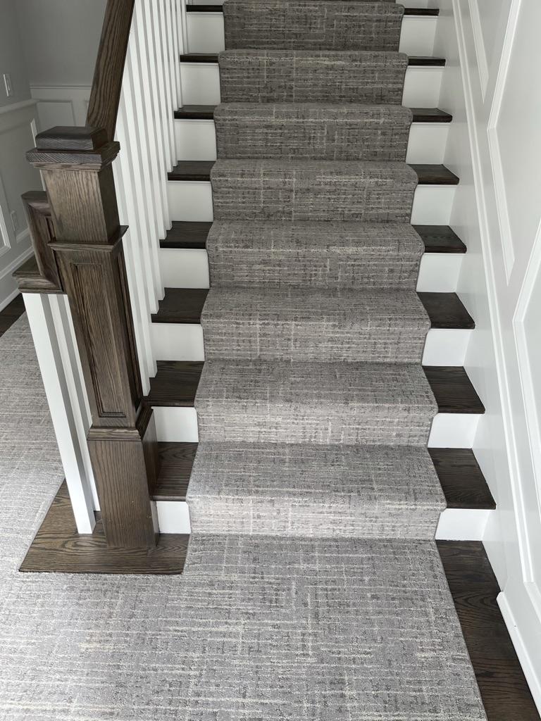 Custom carpet runner install in Chatham NJ